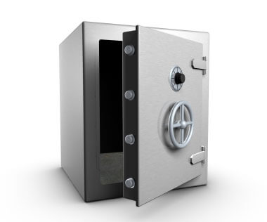 Rendering of a bank safe
